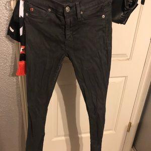 Hudson nico dark gray skinny jeans 25